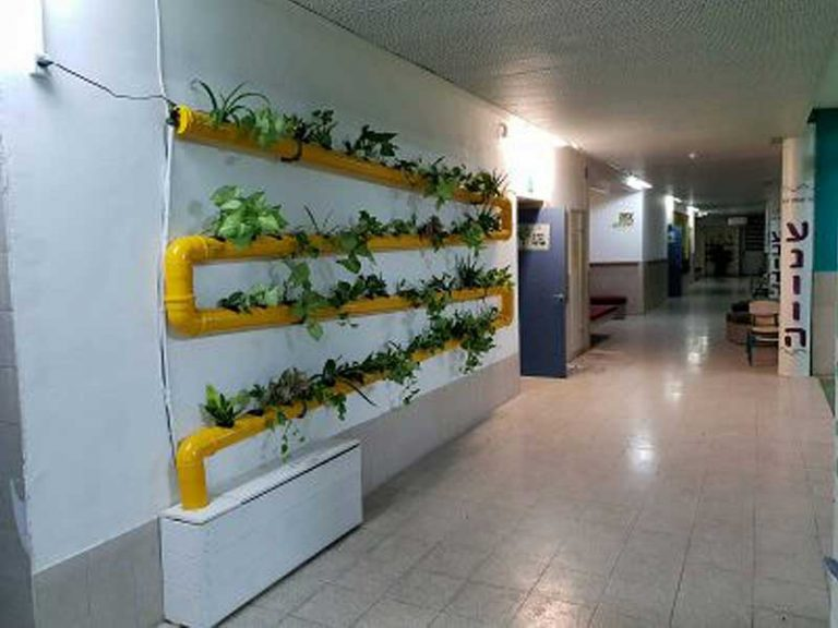 NFT system in a school corridor