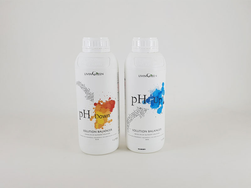 pH Up and pH Down help keeping the ideal pH in the nutrient solution
